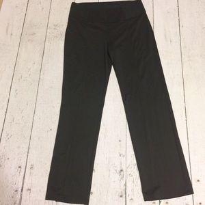 Black Saragano Jersey Knit Pants Slacks